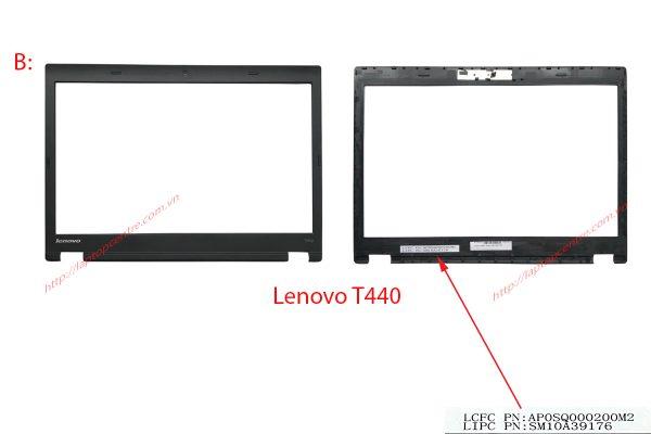 Thay vo laptop lenovo T440 T450 mat B2 Viền dán